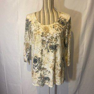 Croft & Barrow Women print shirt SZ LG EUC